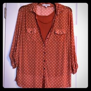 Polka dot long sleeve